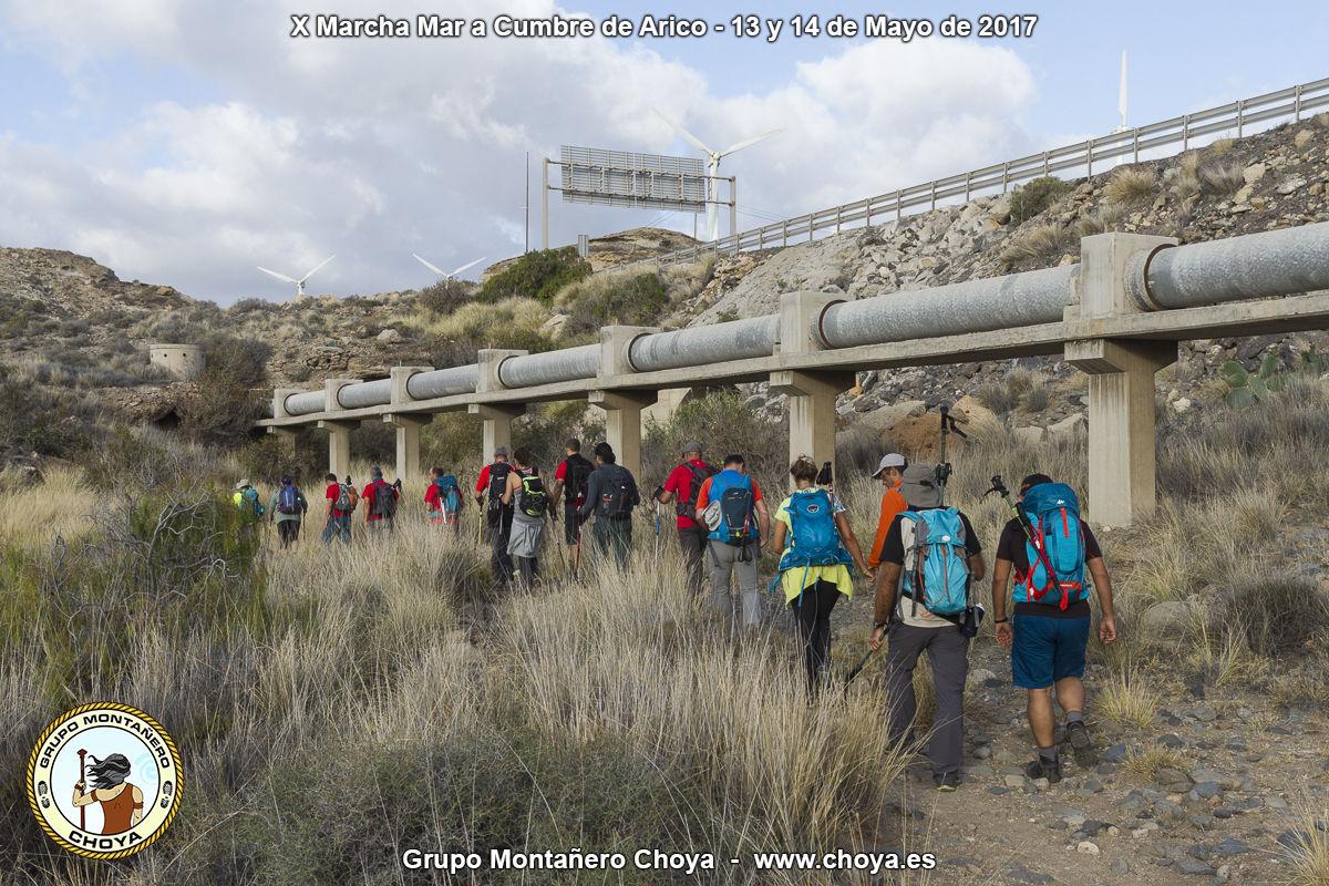 Inicio del recorrido en el Barranco de los Caballos - Porís de Abona