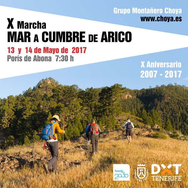 X Edición de la Marcha Mar a Cumbre de Arico - Grupo Montañero Choya