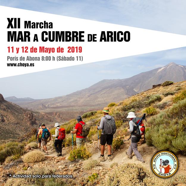 XII Edición de la Marcha Mar a Cumbre de Arico - Grupo Montañero Choya